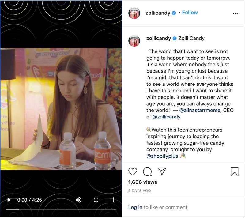 Alina Morse CEO Zolli Candy ShopifyPlus